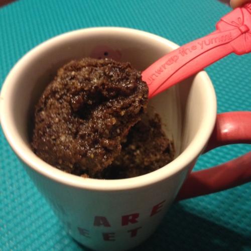 Grain Free Minute Muffin in a Mug ready